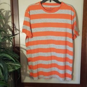 Mens American Eagle Striped T Shirt, Large